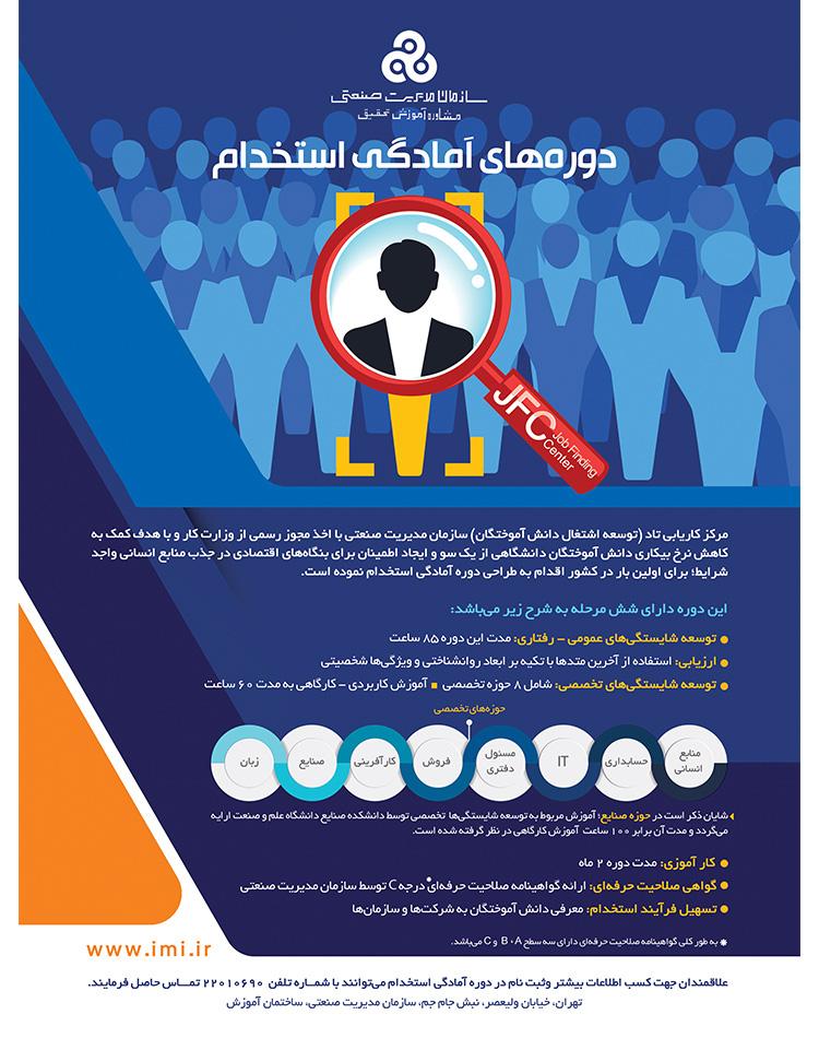 سازمان مدیریت صنعتی دوره های آمادگی استخدام را جهت ارتقای مهارت های نرم برگزار می نماید