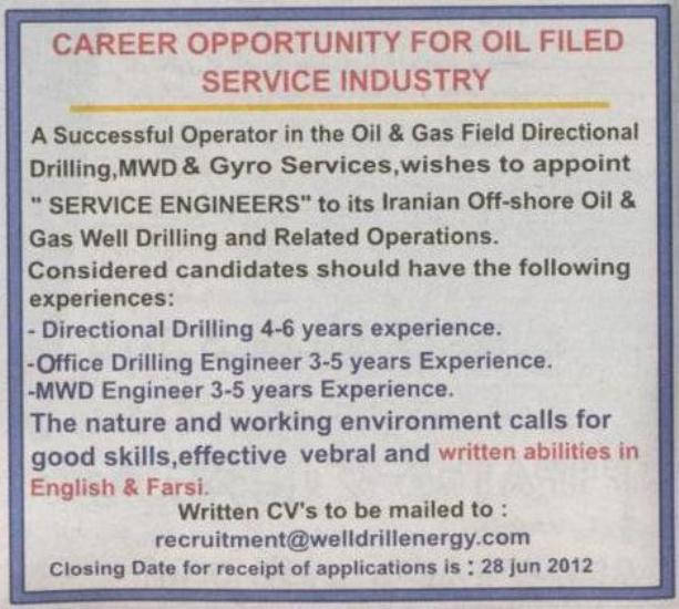 successful operator in the oil & gas field directional