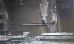 تصویر آتش سوزی مدرسه در پیرانشهر