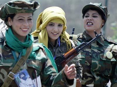 زنان دانشگاه قذافی