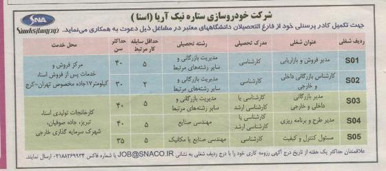 استخدام ایران خودرو