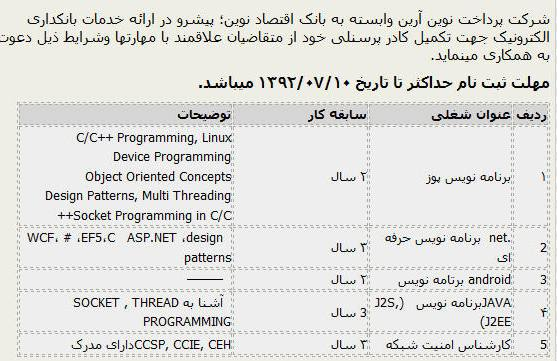 کانال تلگرام استخدام کارگر